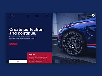 BMW M4 / Web UI rims speed car branding bmw vector page typography application app webdesign layout web website ux ui design