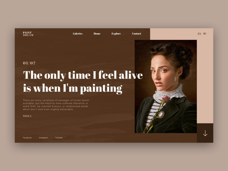 Painting / Web UI art woman webdesigner creative landing page landing painting paint painted page application app webdesign layout web website ux ui design