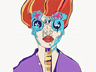Space woman flat дизайн ілюстрація vector design illustration