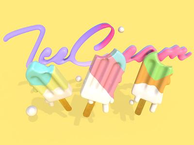 Melting Ice Cream web 3d art branding дизайн ілюстрація design illustration