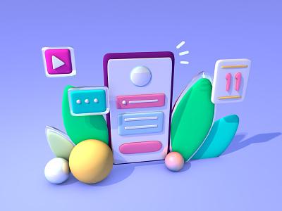 Smart UI 3d art ux ui web ілюстрація design illustration