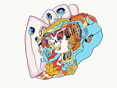 in cell дизайн ілюстрація flat web vector illustration design