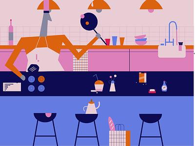 kitchen vibes дизайн ілюстрація flat web vector illustration design
