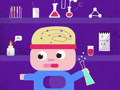 chemistry дизайн ілюстрація flat vector illustration design