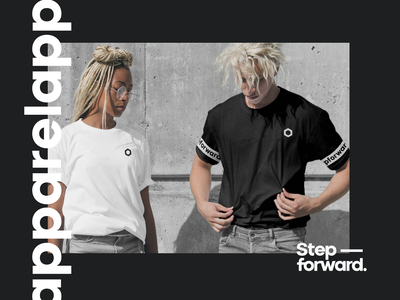 TeleSoftas Brand Apparel animation people merchandise print design print minimal typography tshirt design contrast bold fashion clothing black  white merch tshirt apparel branding identity brand