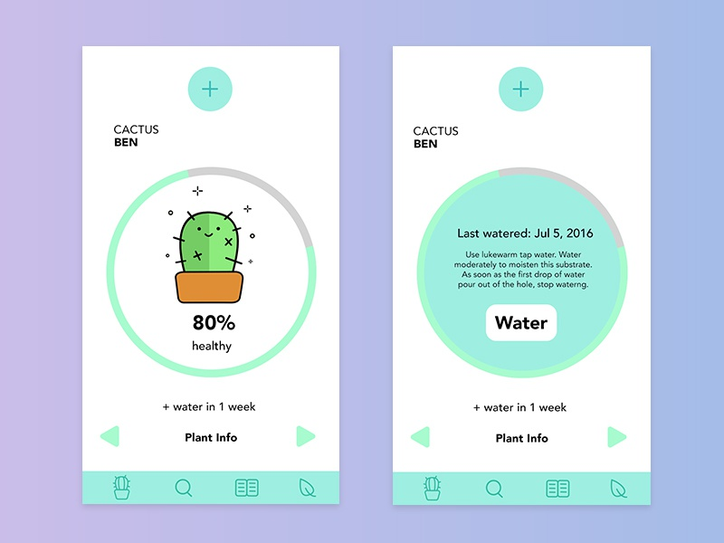 UI #1 Watering Plants App by Amy Hsieh on Dribbble