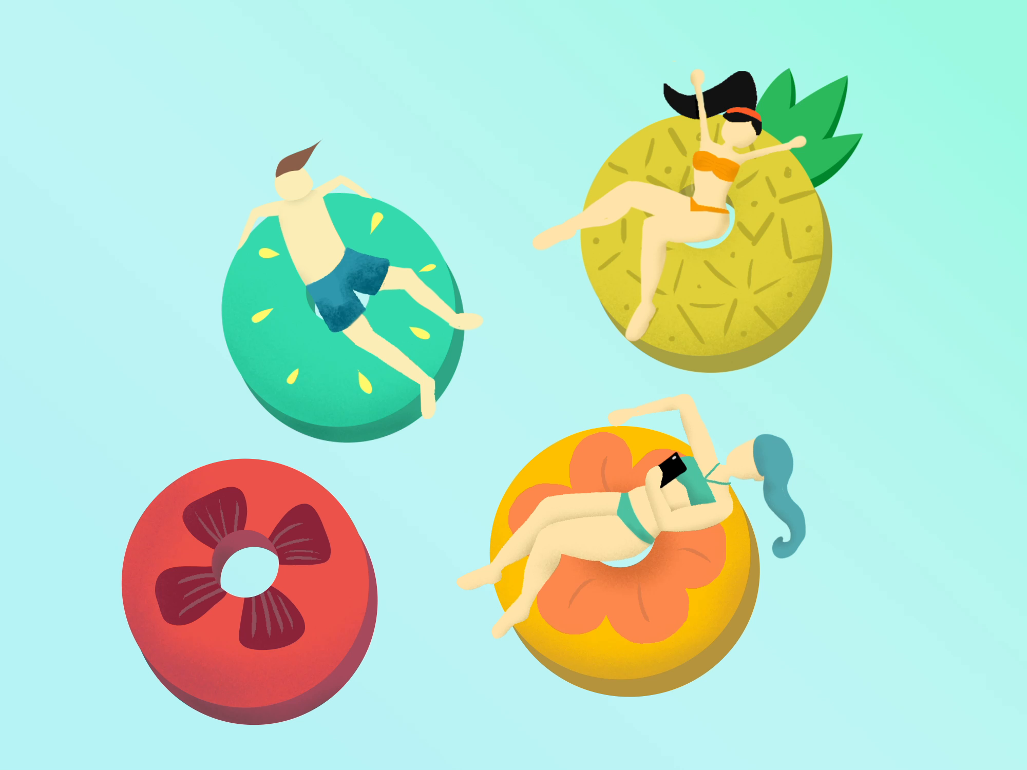 Pool donuts