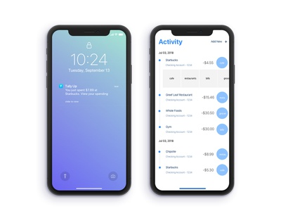 Tally Up - Your Spending App Concept payment bill concept app ux sketch design ui