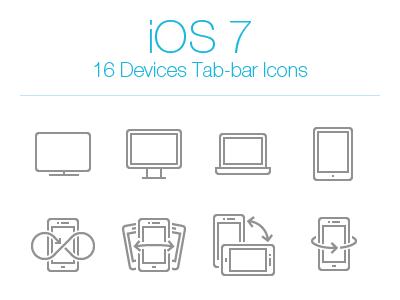 iOS 7 Devices Tab Bar Icons ios 7 tab bar icons devices iphone ipad