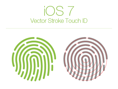 Free iOS 7 Touch ID ios 7 free vector eps touch id stroke download tab bar icon
