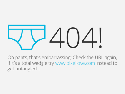 404...oh pants 404 fun iconography