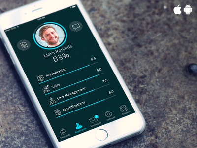 Interface mockup to demo iOS & Android icons iphone 6 mock-up interface android ios icons ui