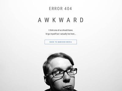 Error 404...Awkward html awkward error 404