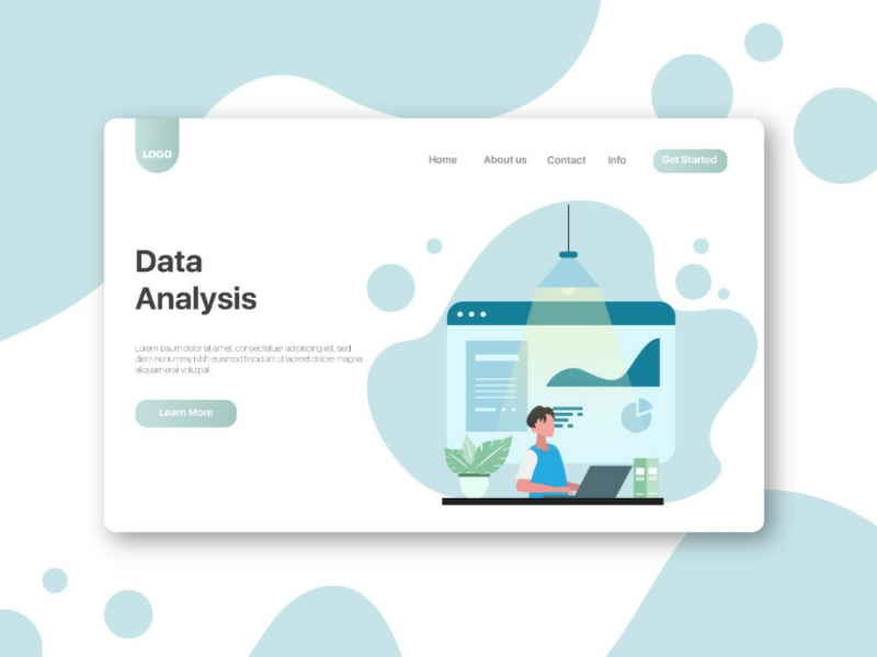 Data Analysis header illustration ui design