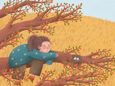 Windy Day kidlitartist kidlitart children book illustration childrens book photoshop kids digital art digital drawing illustration digital painting digital illustration kids illustration happy art childrens illustration