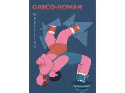 """Poster """"Greco-Roman Wrestling"""""""