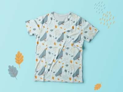 The autumn pattern for kids shirt