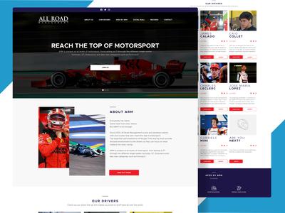 Motorsport headhunters Website design