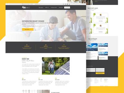 Energy Efficient company website design