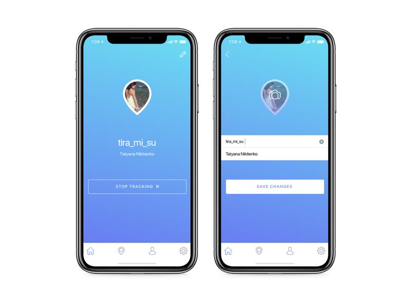 Design for TYF Tracking App by Tatyana Nikitenko on Dribbble