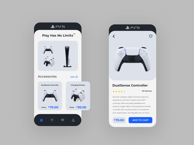 Playstation 5 mobile app playstation5 mobile app ux ui