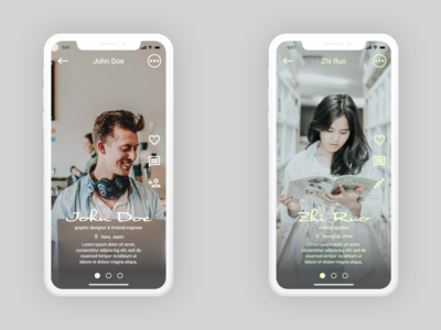 Daily UI #006 User Profile. Dating apps!