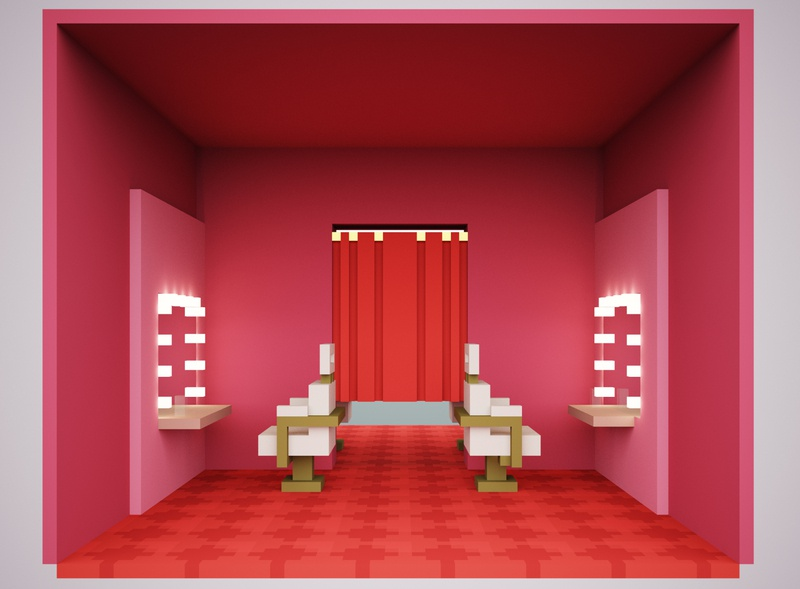 Hair Salon Study hair salon magicavoxel interiordesign voxelart voxel