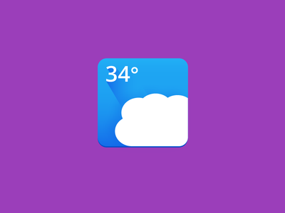 Blue Weather Icon weather icon flat long shadow simple blue
