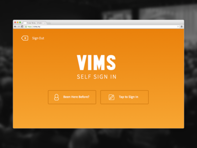 WIP - VIMS. A Guest Book Webapp entrance events ticketing register self vims envoy