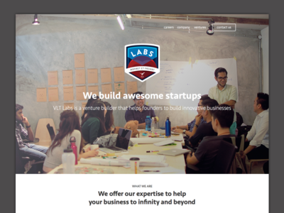 WIP - VLT Labs digital mckinsey startup malaysia page landing homepage labs vlt