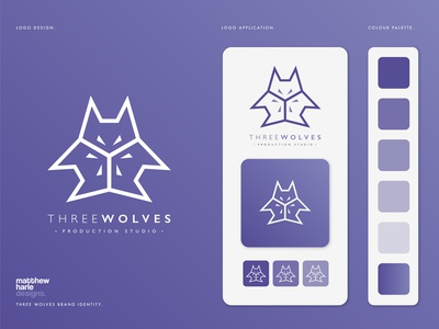 ThreeWolves Production Studio Logo Design