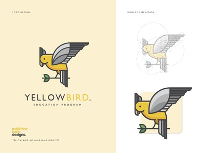 YellowBird Education Program Logo Design.