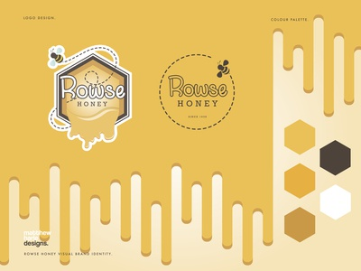 Rowse Honey Logo Rebrand Concept.