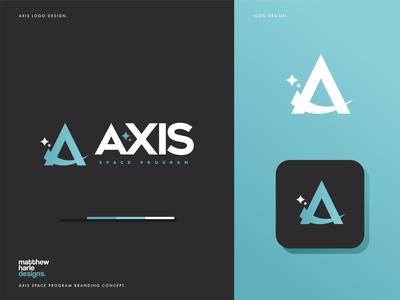 AXIS Space Program Logo Design.