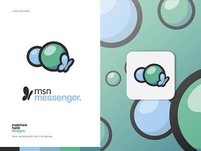 MSN Messenger - Rebrand Project - Logo Design. logo designs brand identity identity design illustrator design graphic design branding logo design logodesign logo