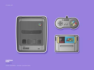 Super Nintendo - Vector Illustrations
