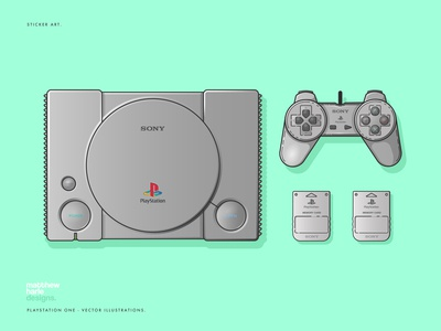 Sony Playstation One - Vector Illustrations
