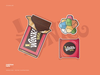 Charlie & The Chocolate Factory - Vector Illustrations.