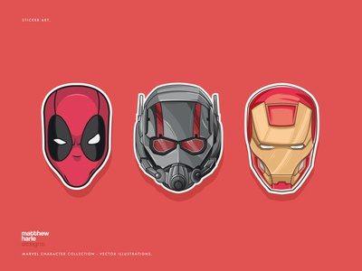 Marvel Character Helmets Collection - Vector