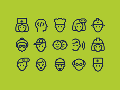 fluent system icons outline professions people man ux icon design web ui vector