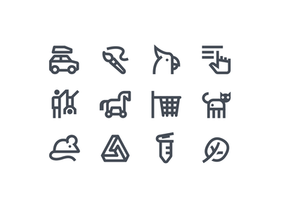 icons8 diverse material reading pictograms monochrome small art sport people car animals logo web ui icon artwork vector design