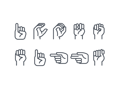 Sign language ios icons