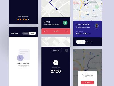 Mobile app for Ride Hailing Service (Driver App) ride hailing bolt uber ride ui design mobile app mobile app