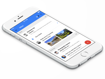 Inbox By Gmail iOS UI