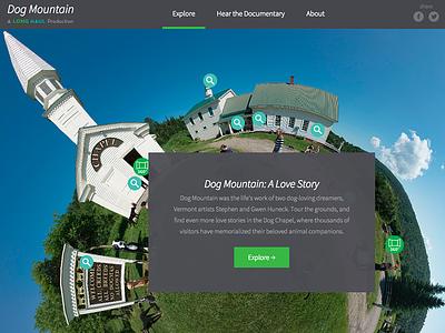 Dog Mountain interactive panorama website documentary