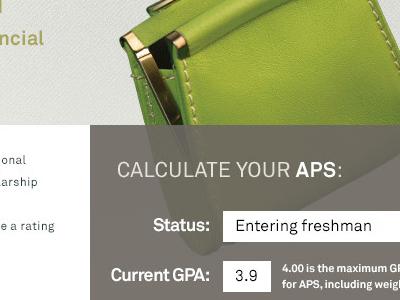 Scholarship calculator