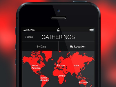 Event Listing Map iphone app map event registration