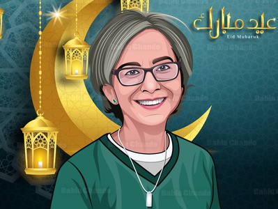 Eid Special Cartoon Portrait vexel logo character vector digital painting caricature portrait vector portrait illustration cartoon portrait cartoon character eidmubarak