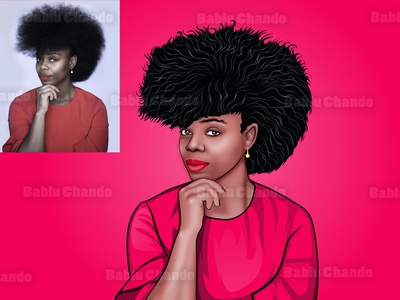 Black girl cartoon portrait black girl profile picture avatar cartoon character digitalart vector cartoon digital painting illustration caricature character vector portrait cartoon portrait