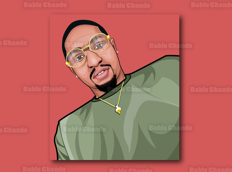 Cartoon avatar portrait avatar digitalart digital painting vector vector portrait character caricature cartoon illustration